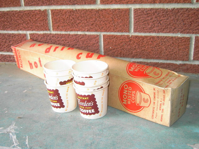 BORDENS PURE COFFEE PAPER CUP JAVA SERVING UTENSIL CONTINENTAL CAN COM