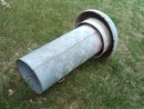 RALSTON PURINA CHICKEN BIRD FEEDER SEED TUBE GALVANIZED STEEL FEED TROUGH FARM POULTRY SHED TOOL