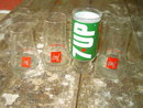SEVEN 7 UP TUMBLER GLASS WET & WILD UNCOLA SOFT DRINK ADVERTISING CUP
