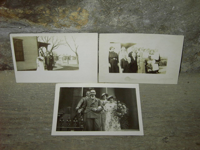 VICTORIAN BRIDE GROOM WEDDING PICTURE POSTCARD