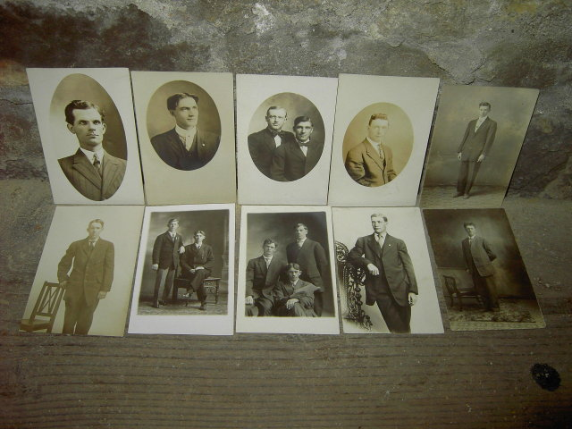 HANDSOME CITY MAN SHARP DRESSED COUNTRY GENTLEMEN PICTURE POSTCARD CLOTHING STYLE CARD