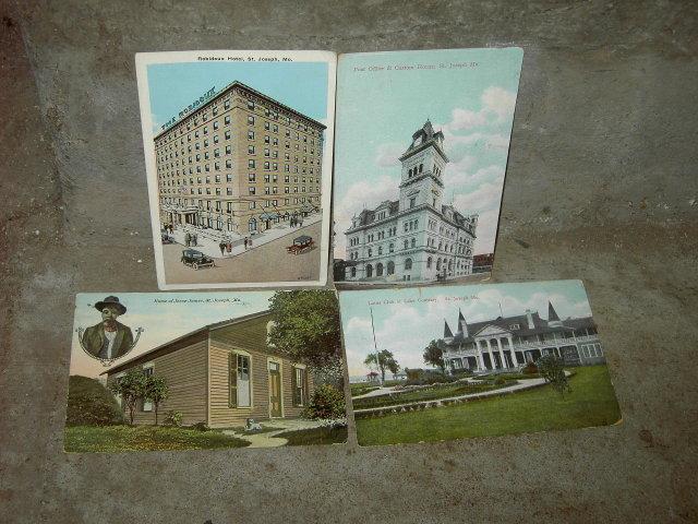 ST JOSEPH MISSOURI PICTURE POSTCARD HISTORICAL LANDMARK MAIL CARD