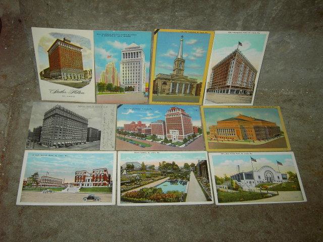 ST LOUIS MISSOURI PICTURE POSTCARD HISTORICAL BUILDING LANDMARK MAIL CARD