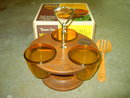 WESTWOOD WEST BEND THERMO SERV FOOD CONDIMENT UTENSIL RELISH BOWLS