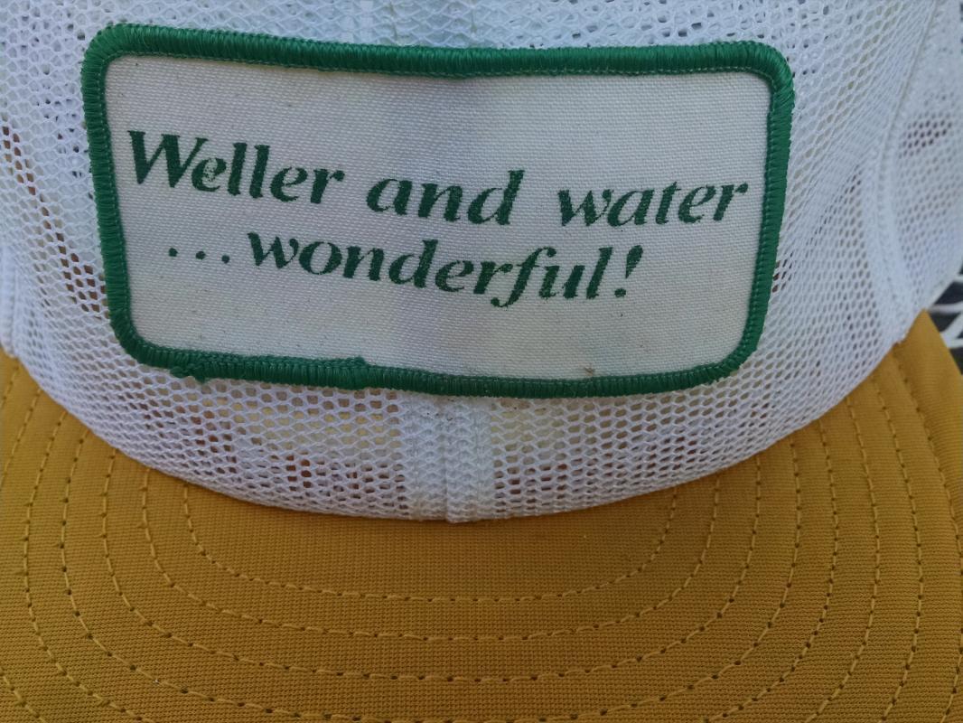 WELLER WATER WONDERFUL RETRO BALL CAP BASEBALL STYLE HAT PATCH TYPE FASHION ACCESSARY LOUISVILLE KENTUCKY USA MADE HEADWEAR