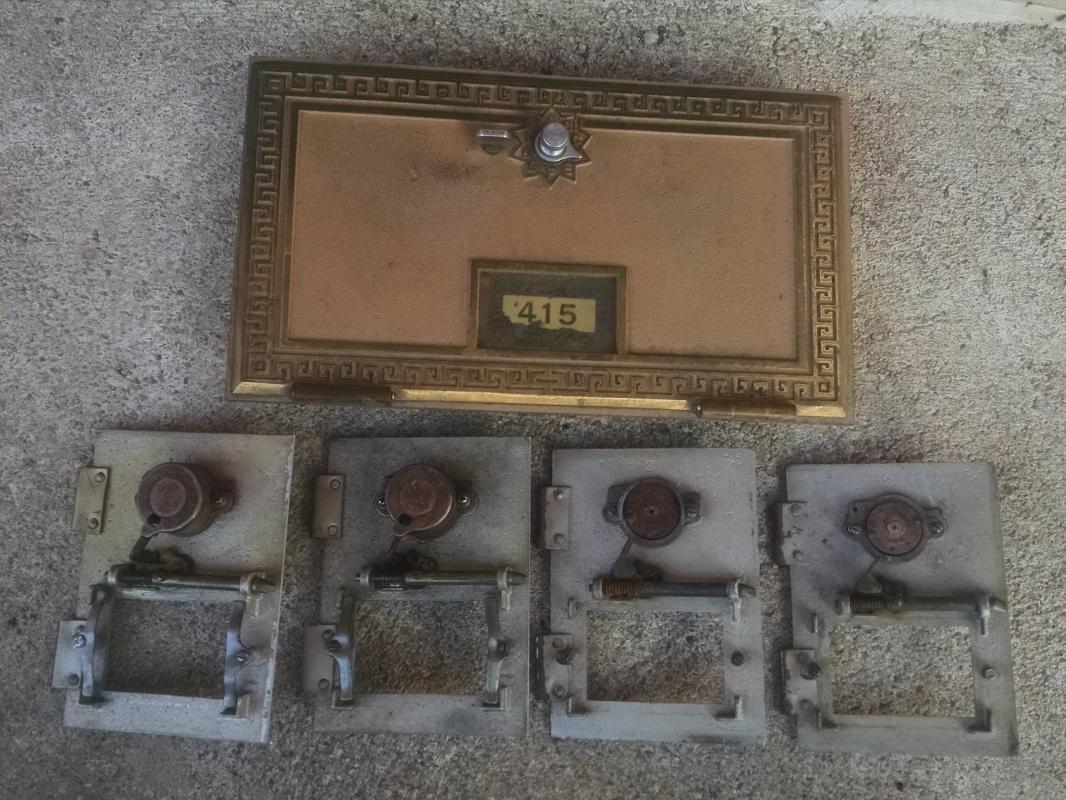 post office box door postal service collectible fixture keyless lock company 1960