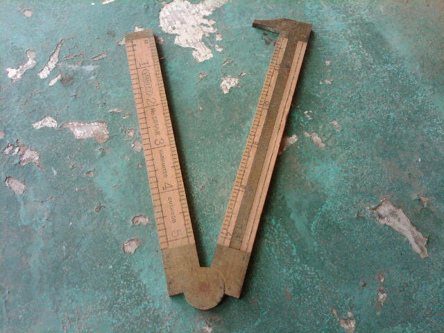 STANLEY FOLDING RULER BOXWOOD MEASURING STICK CARPENTERS MEASURE