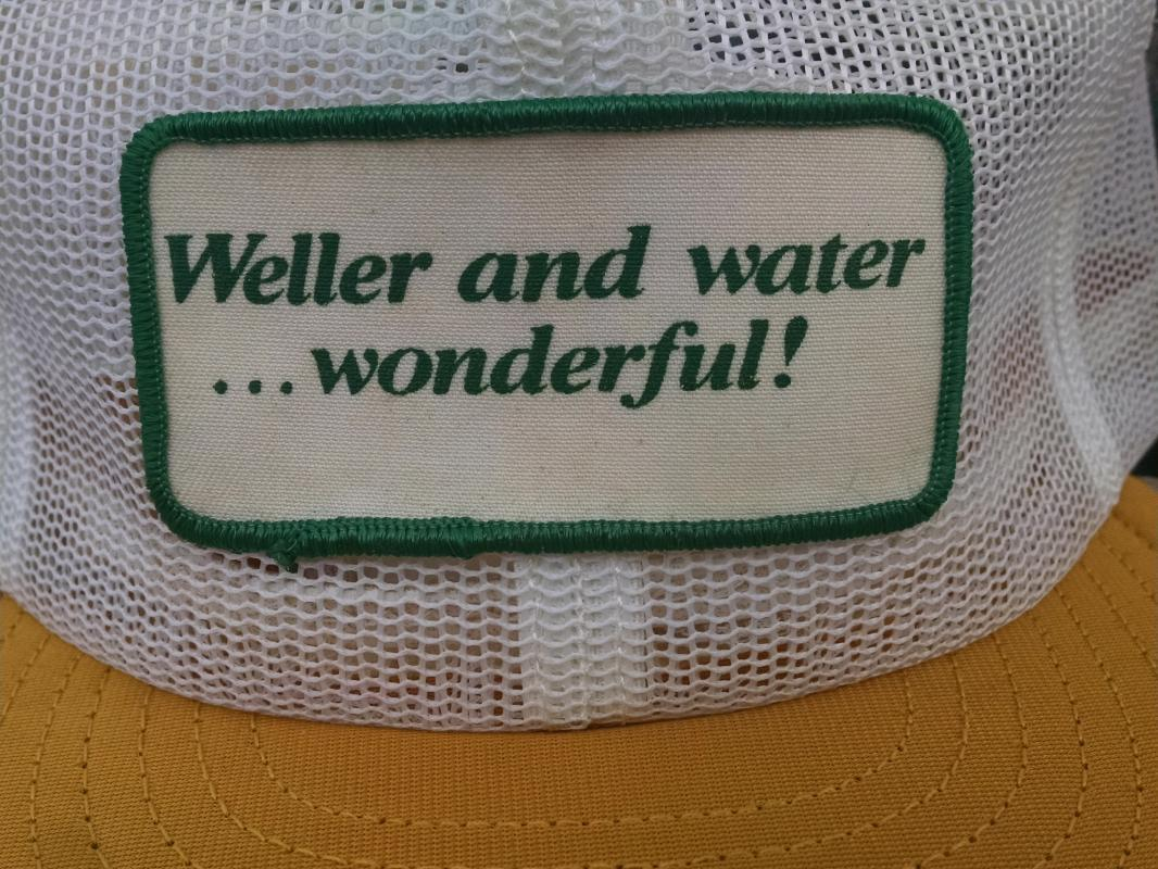 WELLER WATER WONDERFUL RETRO BALL CAP BASEBALL STYLE HAT PATCH TYPE FASHION ACCESSORY LOUISVILLE KENTUCKY USA MADE HEADWEAR