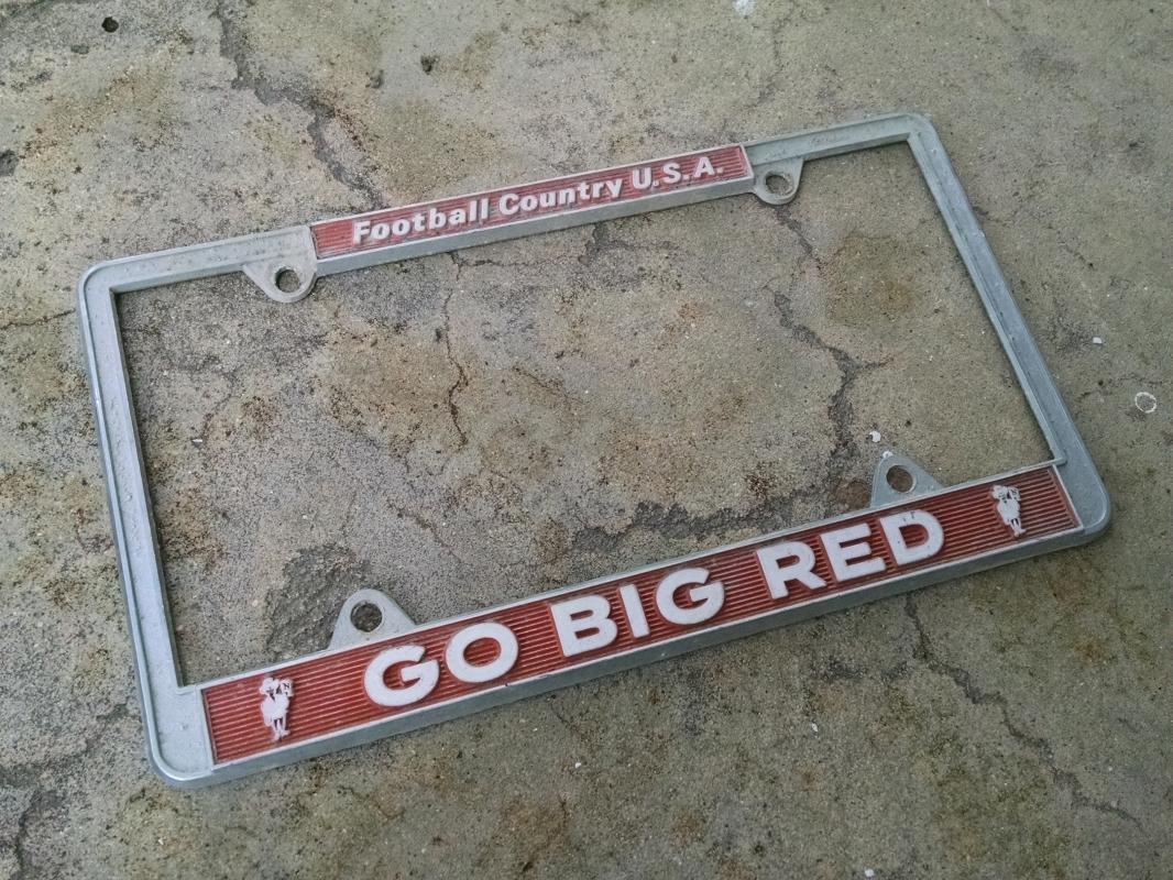 Nebraska Cornhuskers Herbie Husker Football Country USA Go Big Red Car License Plate accessory Retro Automobile Fixture