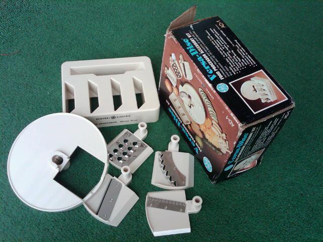 General Electric Versa Disc Food Processor Accessory kit Slicer Cutter Blade Tool