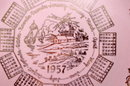 1957 Pink Gold Calender Plate, Taylor Smith Taylor