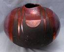 Large Raku Pottery Vase Ceramic artist Tony Evans , hand formed   **PRICE REDUCED**!