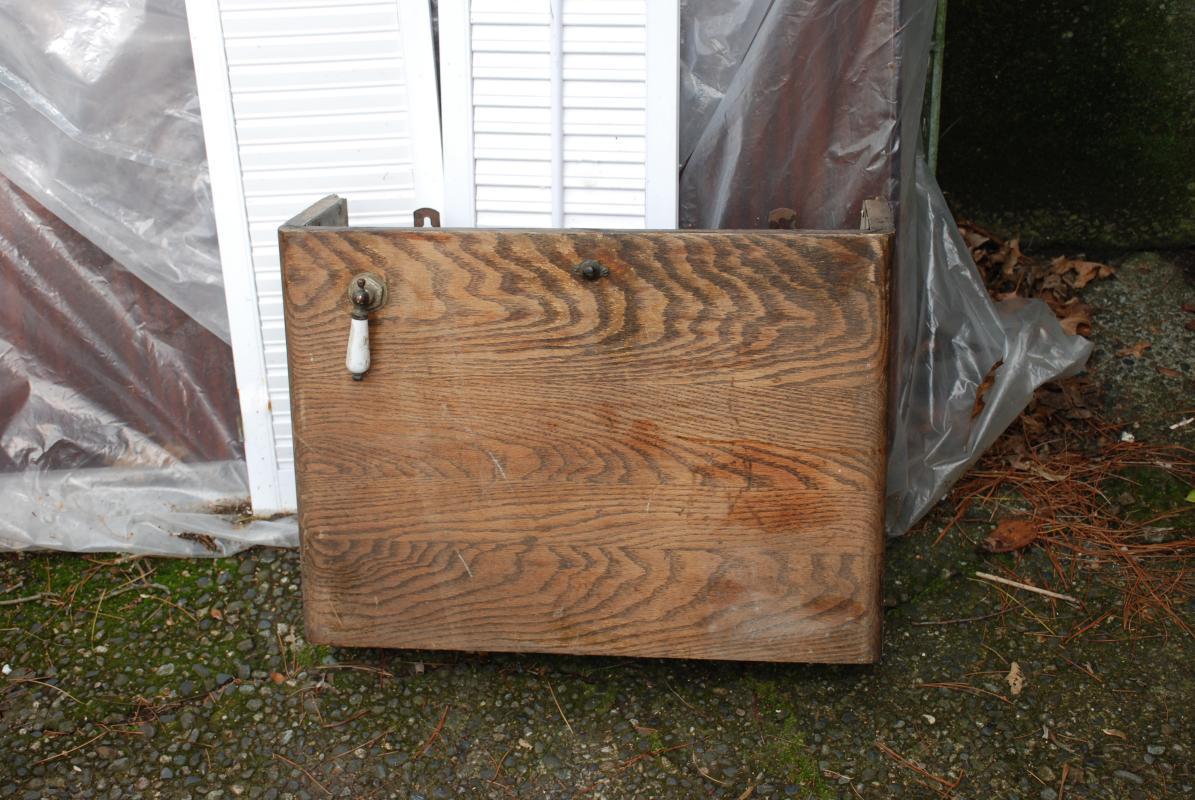 Rare Antique Oak Overhead Toilet Tank