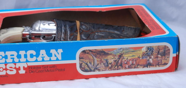 Pony Boy Toy  Die Cast Cap Gun with Holster in Box  -Esquire Nichols