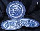 3 Blue Willow Royal Wessex England Dinner Plates 10