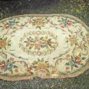 Vintage Wool Oval Hooked Rug 56 x 34
