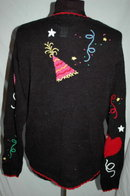 The Quacker Factory New Years Party Sweater, Cardigan size S.   **PRICE REDUCED**!