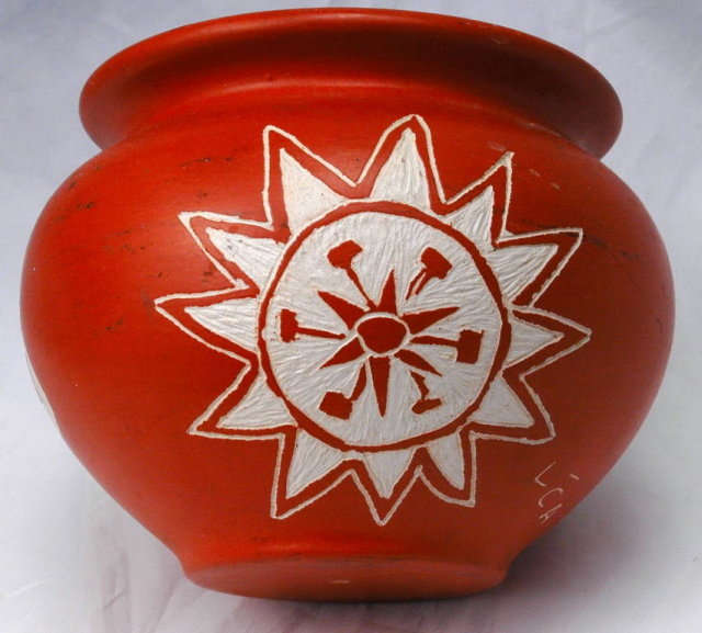 Contemporary Native American Pottery Bowl Marked LCA   **PRICE REDUCED**!