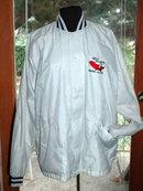 Red Salmon Co. Nakneck, Alaska Logo Windbreaker Jacket Men's size large