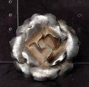 Large Rose Sterling  Taxco Mexico Sterling Silver Brooch Pendant signed Lasana