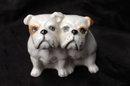 Beswick Seated Bulldogs Porcelain Figurines