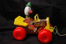 Vintage Fisher Price Jalopy Clown Pull Toy 774