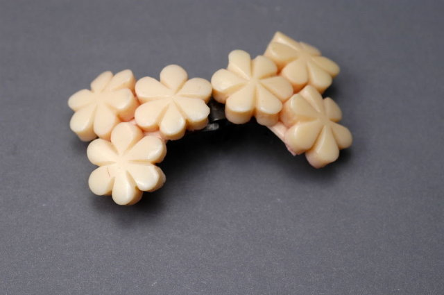 Vintage Celluloid Flower Belt or Sash  Buckle  Pale Pink