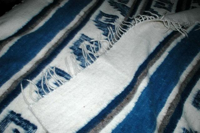 Hand Made Woven 100% Wool Blanket  Momostenango, Guatemala  86