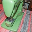 Elna Supermatic 722010 Vintage Sewing Machine Green  with Case and Cams  and booklet/Switzerland