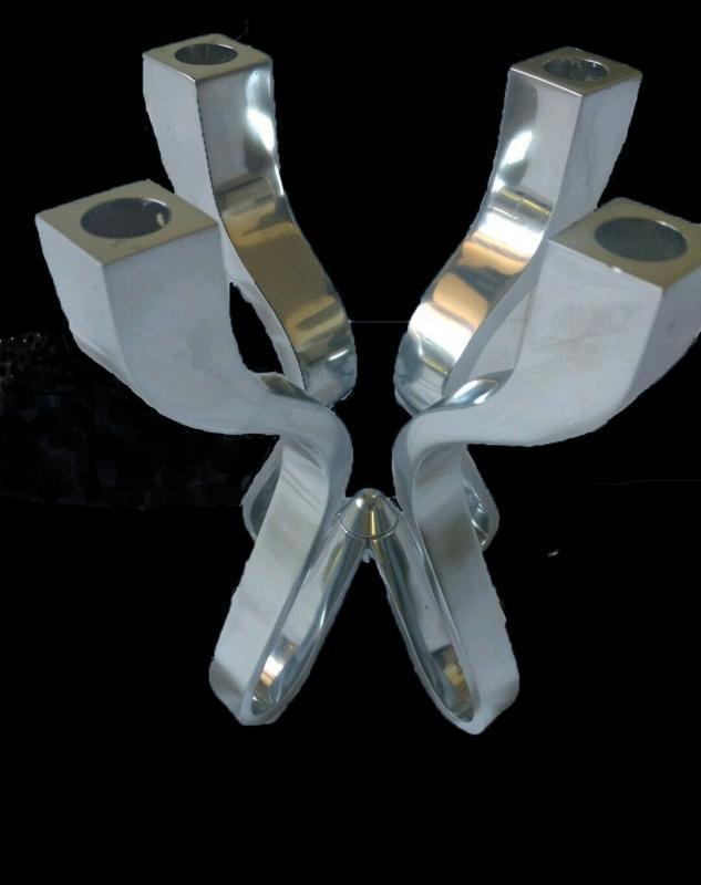 Umbra Chorus Candelabra Karim Rashid Chromed Zinc, 4 light