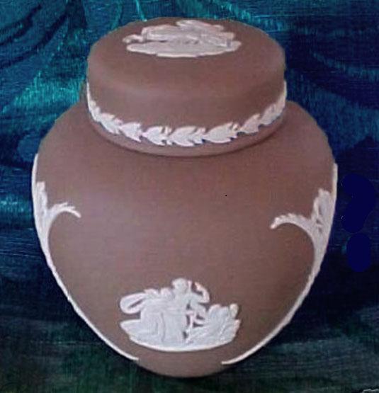 WEDGWOOD BROWN JASPERWARE GINGER JAR Dresser Jar