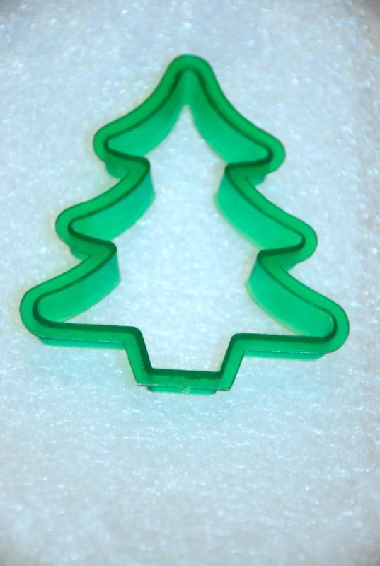 Vintage Christmas Tree Cookie Cutter, Transparent Green