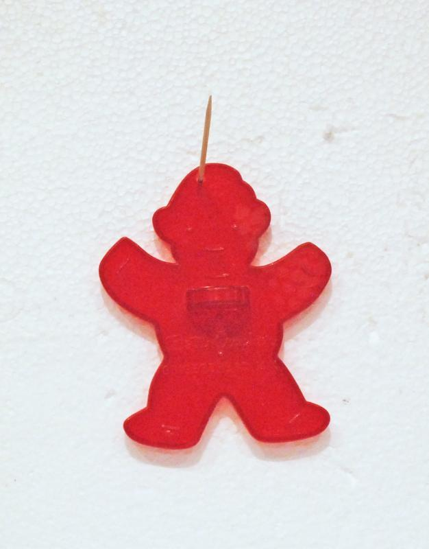 Vintage Red Plastic Gingerbread Man 1960's Cookie Cutter Betty Crocker Promo USA