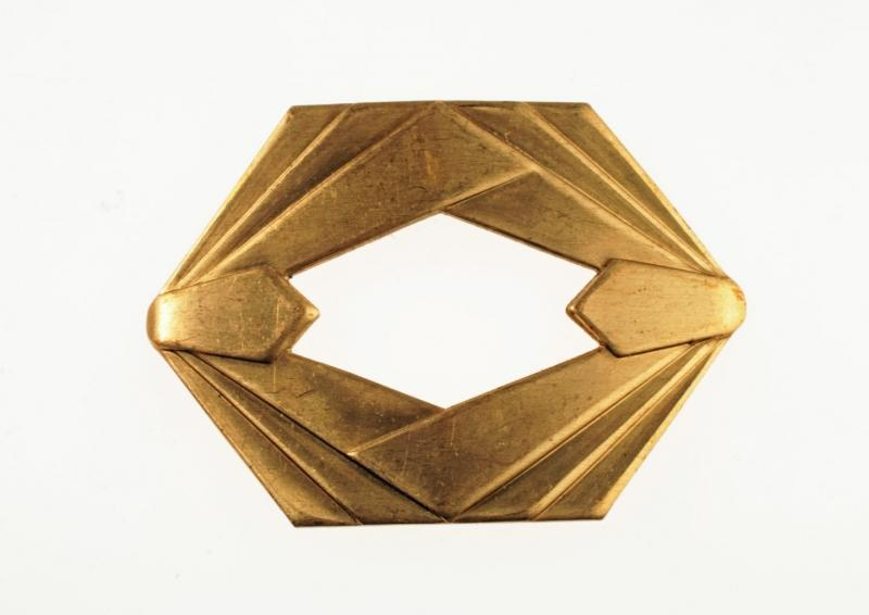 Art Deco Solid Brass Stamping Jewelry Making Component Vintage Old Stock
