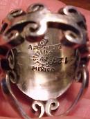 Arte en Plata Old Taxco Silver & Tiger eye Ring