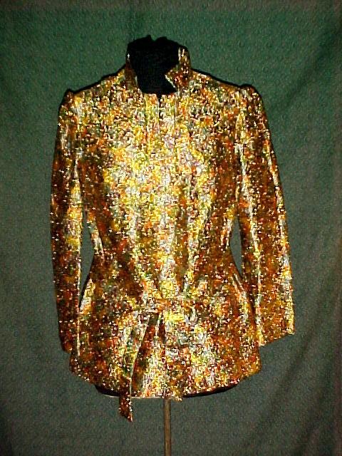 Metalic Brocade Tunic Top Wild Color