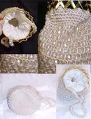 Vintage Aurora Beads & Crochet Bag purse beaded