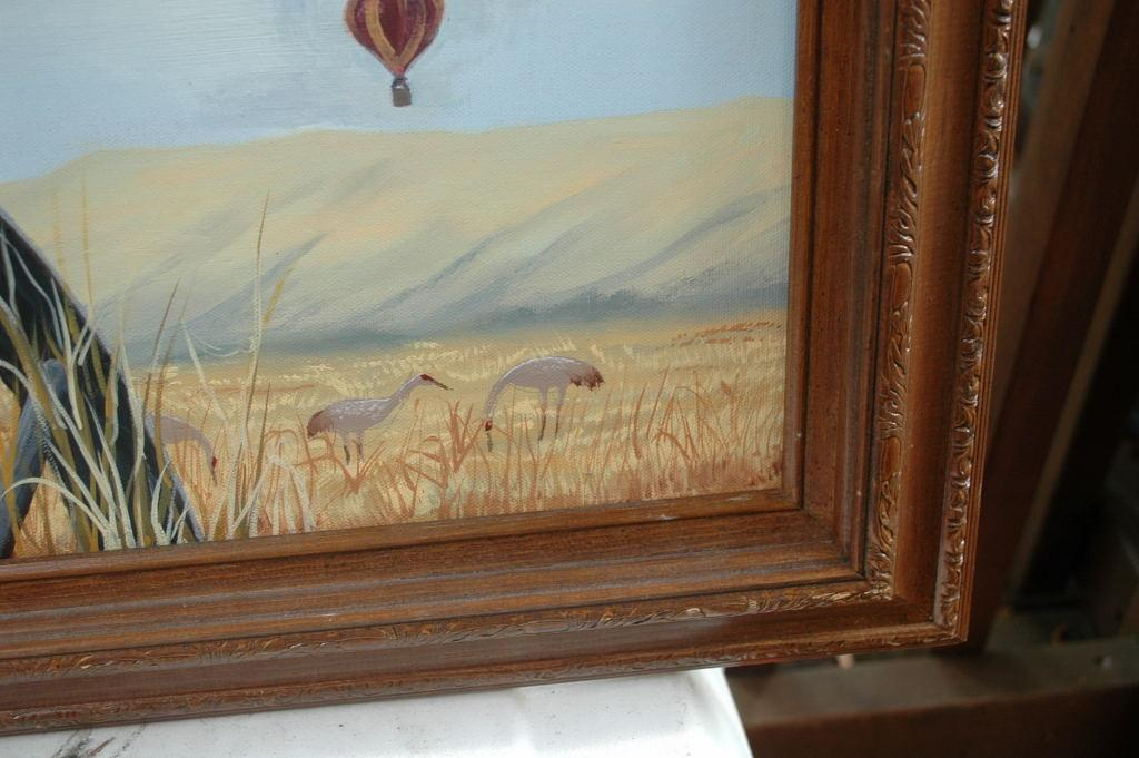 Meadow Lark Oil Painting  on canvas in frame