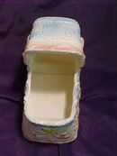 Baby Bassinet Musical Planter or Container by Inarco Japan