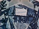 Retro Barkcloth Hawaiian Abstract  Shirt