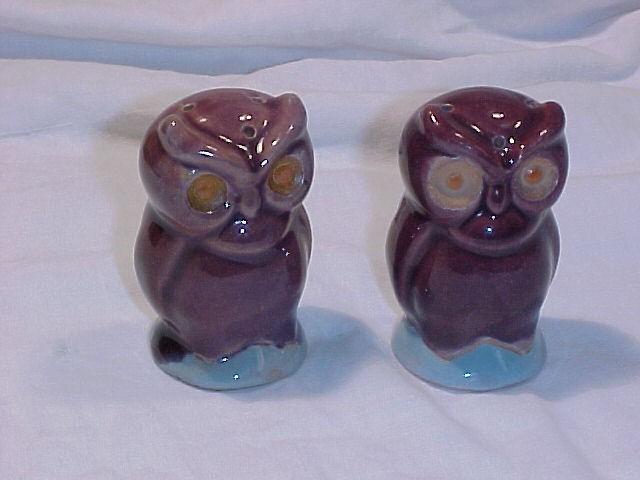 Pottery Owl Salt & Pepper Shakers