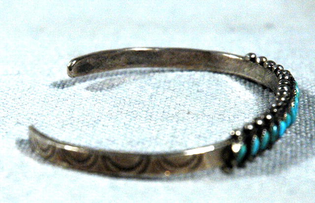 Old Zuni Petite Point Turquoise & Silver