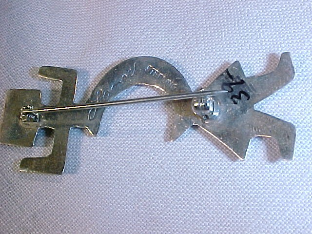 Signed Sterling Silver Native American Hopi Indian Kachina Pin