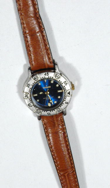 Visage Deep Blue Face  Water Resistant  Watch
