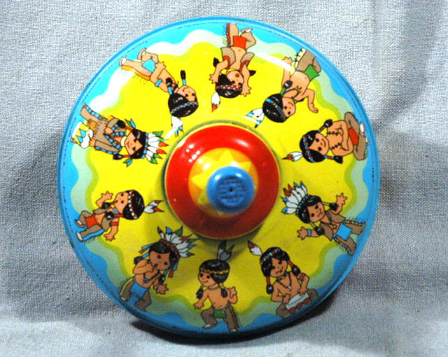 Ohio Art Little Indians  Litho Spinning Top   PRICE REDUCTION!**