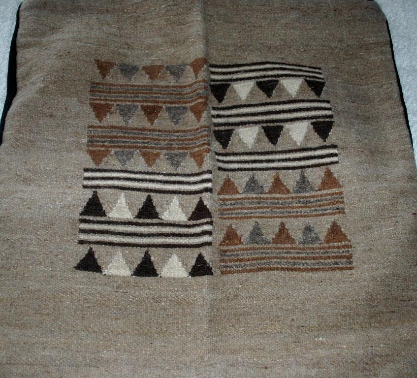 Ethnic Hand Woven Wool Rug, Large Pillow  case