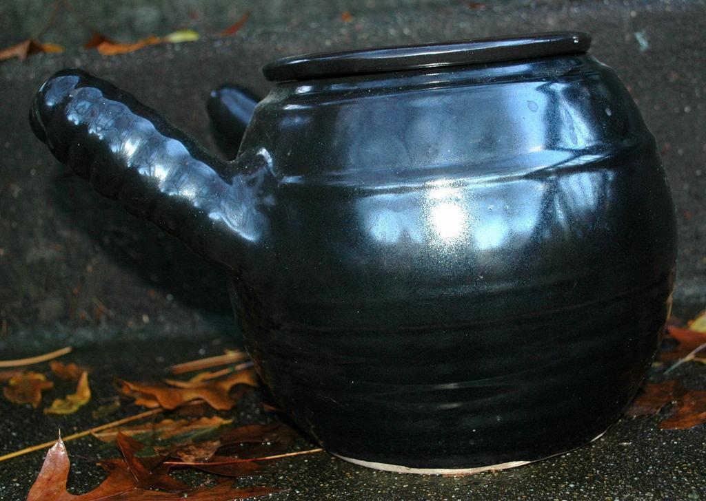 Large Japanese or Chinese  Clay Teapot Yokode Kyusu  Side Handle  Original Vintage