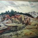 Paul Lauritz Fine Art Landscape Painting in Gilt  Wood Frame