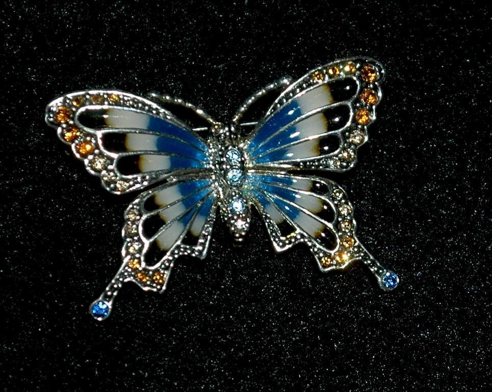 Monet swallowtail butterfly pin