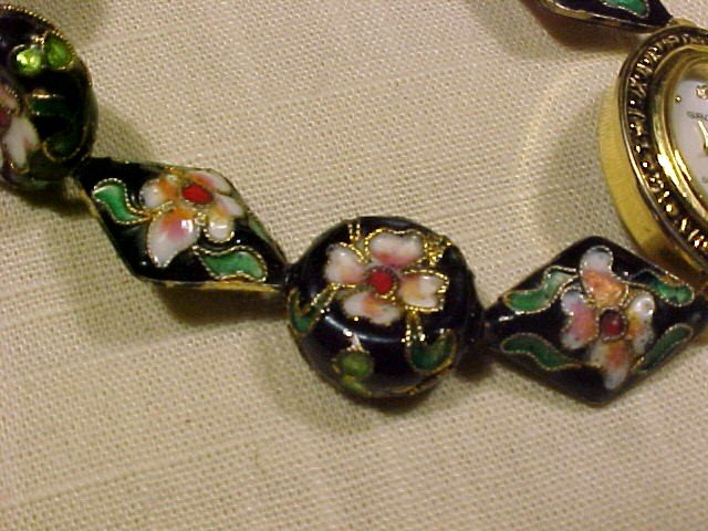 Pretty Gruen Watch with Cloisonne Beaded Band